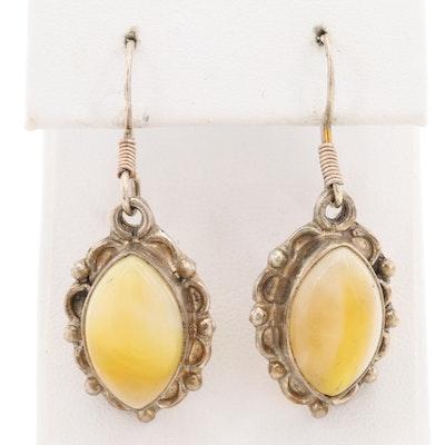 Sterling Silver Glass Drop Earrings