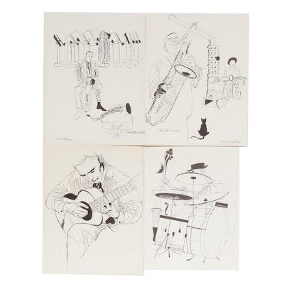 David Stone Martin Jazz Musician Lithographs