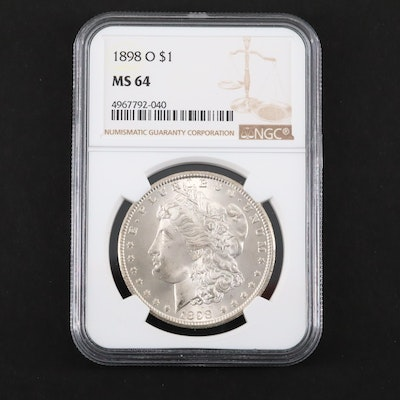 NGC Graded MS64 1898-O Silver Morgan Dollar