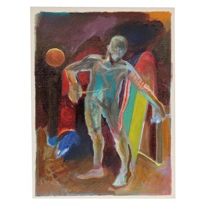 Doris Vlasek-Hails Abstract Figure Acrylic Painting