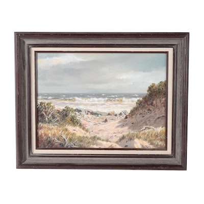 """Roy Taylor Oil Painting """"Beyond Nahoon, East London, Cape"""""""