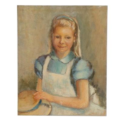 Edrie Leah Frandzel Portrait Oil Painting