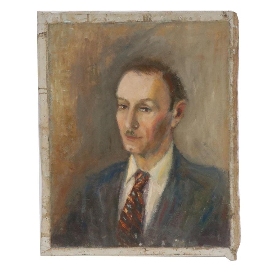 Edrie Leah Frandzel Portrait of a Gentleman Oil Painting