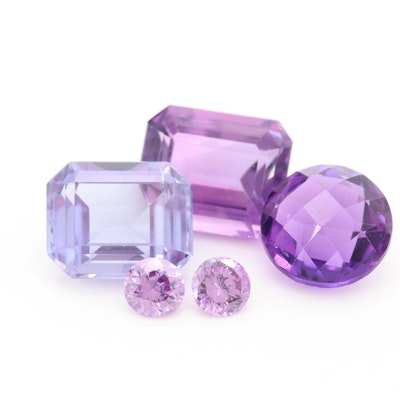 Loose 16.12 CTW Gemstone Assortment Including Amethyst