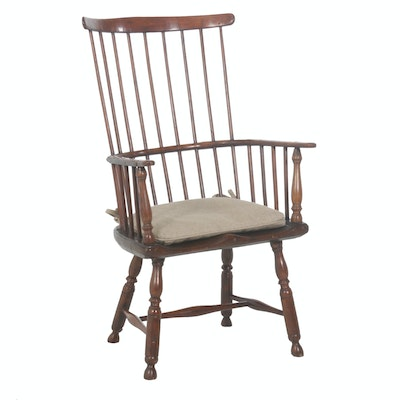 Hand Crafted Fan Back Windsor Armchair, Early 19th Century