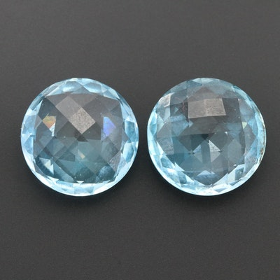 Loose 30.22 CTW Matching Topaz Gemstones