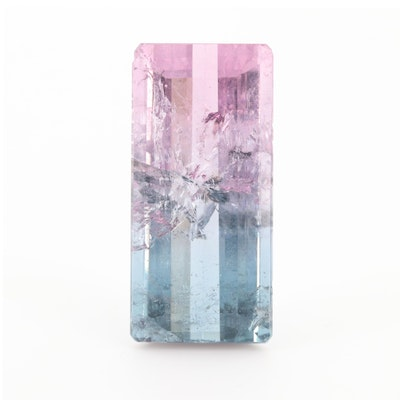 Loose 16.00 CT Bi-Color Tourmaline Gemstone