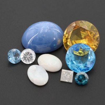 Loose 0.39 CTW Diamond and 14.67 CTW Gemstone Assortment