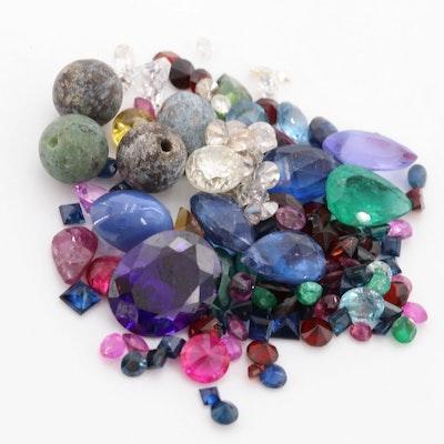 Loose 1.66 CTW Diamond and 29.61 CTW Gemstone Assortment