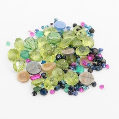 Loose 26.58 CTW Peridot, Blue Sapphire and Gemstone Assortment
