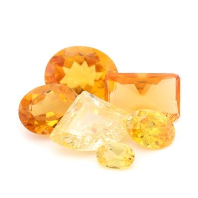Loose 18.65 CTW Gemstone Assortment Including Yellow Sapphire