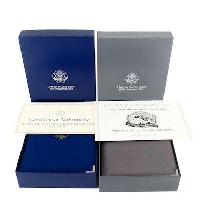 1991 and 1993 U.S. Mint Prestige Sets