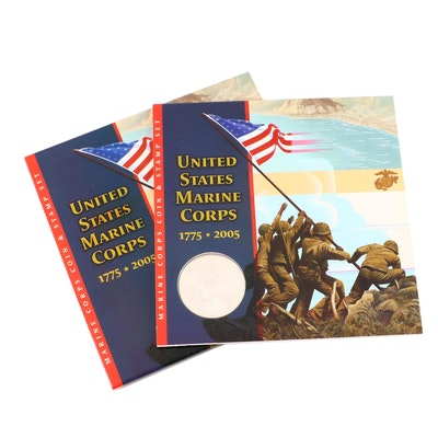 U.S. Marine Corps Coin and Stamp Set
