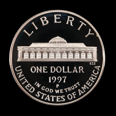 1997-P U.S. Botanic Garden Commemorative Proof Silver Dollar