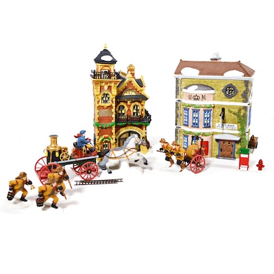 "Dept. 56 Dickens' Village Series ""Ashwick Lane Hose & Ladder"" and Others"