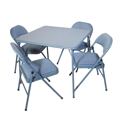 Maco Folding Chairs with Folding Table