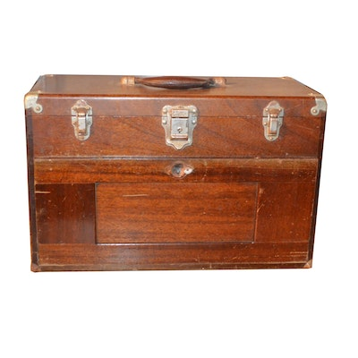 H. Gerstner & Sons Wood Tool Chest with Gauges and More