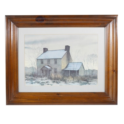 "Howard Collins Offset Lithograph ""Old Home Place"""