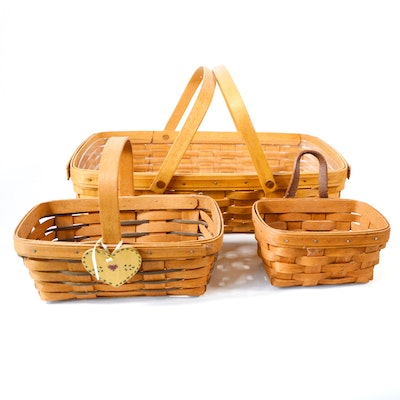 Longaberger Double Handle Basket and Other Longaberger Baskets