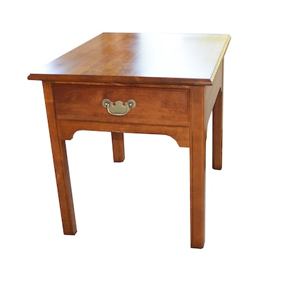 Cresent Furniture Cherry End Table, Late 20th Century