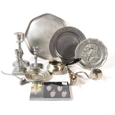 Pewter Serveware, Candlesticks and Decor