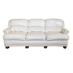 Hancock & Moore Cream Leather Sofa, Contemporary