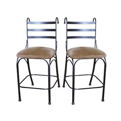 Pair of Contemporary Metal Counter Stools