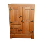 Three-Door Oak Icebox, Late 19th Century