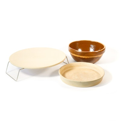 Sassafrass Superstone Deep Dish Baker and Pizza Stone, and Other Bowl