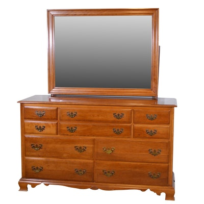 Kling Factories Cherry Dresser with Mirror, Mid-20th Century
