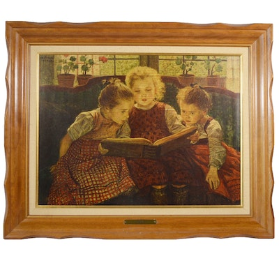 "Offset Lithograph after Walther Firle ""The Fairy Tale"""