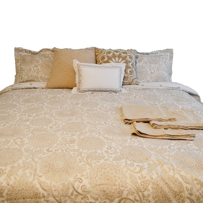 "J. Queen of New York King ""La Scala"" Duvet with Shams and Accent Pillows"