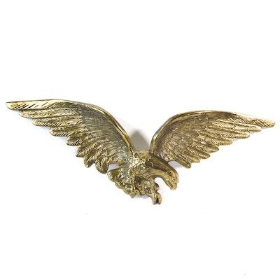 American Eagle Brass Wall Sculpture