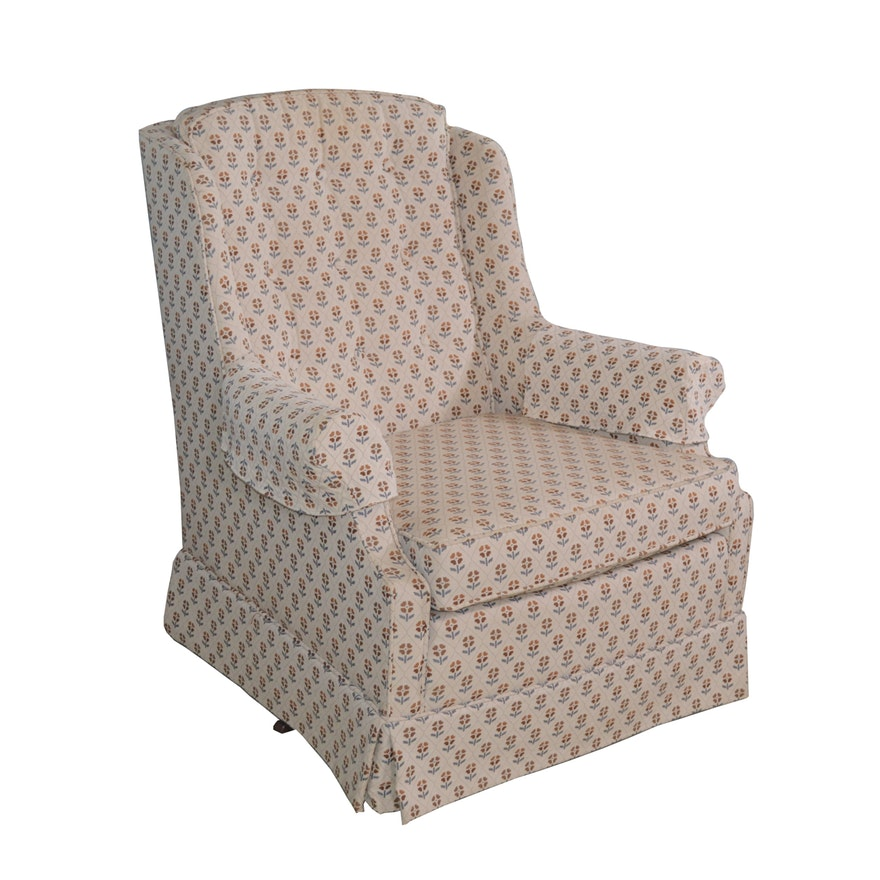 Woodmark Originals Upholstered Swivel Rocking Chair, Late 20th Century