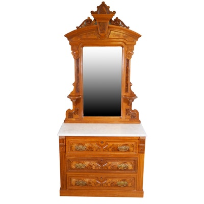 Victorian Eastlake Dresser with Mirror, Late 19th Century