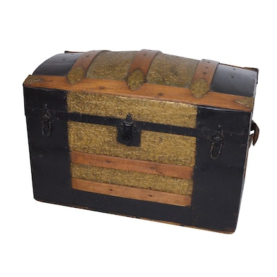 Dome Top Trunk, Late 19th to Early 20th Century