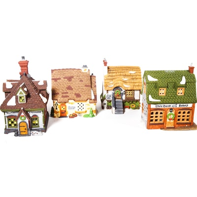 "Dept. 56 Dickens' Village Series ""Wm. Wheat Cakes & Puddings"" and Other Bakeries"