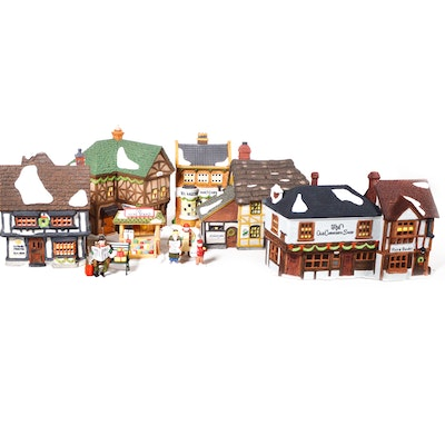 "Dept. 56 Dickens' Village Series ""Old Curiosity Shop"" and Other Businesses"