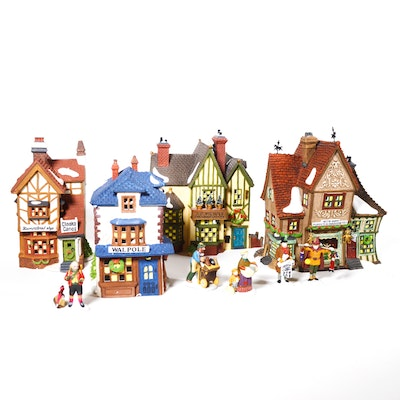 "Dept. 56 Dickens' Village Series ""Nettie Quinn Puppets & Marionettes"" and Others"