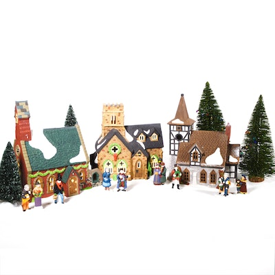 "Dept. 56 Dickens' Village Series ""Knottinghill Church"" and Others"