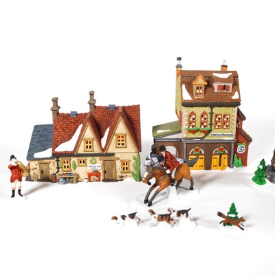 "Dept. 56 Dickens' Village Series ""Butter Tub Farmhouse"" and Others"