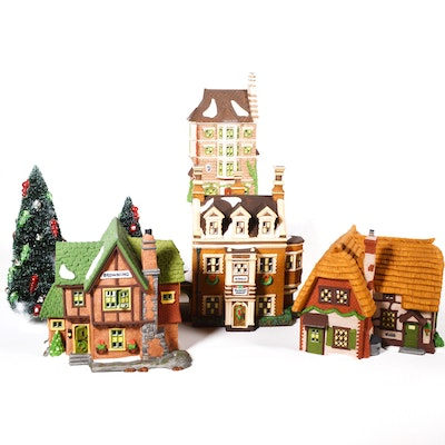 "Dept. 56 Dickens' Village Series ""Dursley Manor"" and Other Cottages"