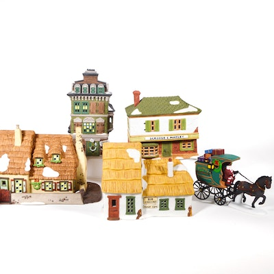 "Dept. 56 Dickens' Village Series ""The Christmas Carol Cottage"" and Others"