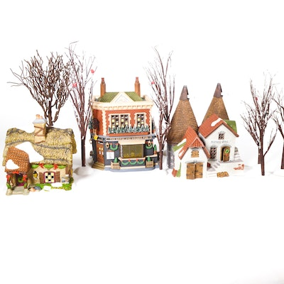 "Dept. 56 Dickens' Village Series ""The Horse and Hounds Pub"" and Others"