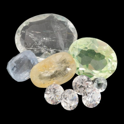 Loose 8.66 CTW Gemstone Assortment Including Sapphire and Topaz