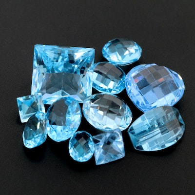 Loose 39.65 CTW Topaz and Synthetic Spinel Gemstones