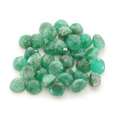 Loose 5.19 CTW Emerald Gemstones