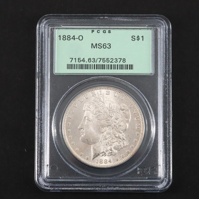 PCGS Graded MS63 1884-O Silver Morgan Dollar
