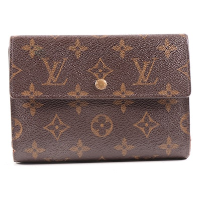 Louis Vuitton Porte-Tresor Etui Papiers Trifold Wallet in Monogram Canvas