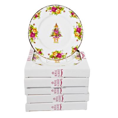 "Royal Albert ""Old Country Roses"" Porcelain Salad Plates"